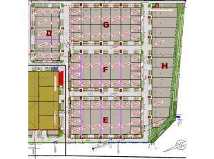 Het Ostend Stores Business Park biedt prachtige nieuwbouw loodsen / KMO-units / opslagplaatsen / werkplaatsen / ... vanaf 399m2 in het ondernemende ha