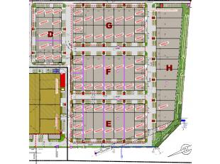 Het Ostend Stores Business Park biedt prachtige nieuwbouw loodsen / KMO-units / opslagplaatsen / werkplaatsen / ... vanaf 399m²in het ondernemend