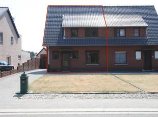 Rustig gelegen woning (HOB, +/- 110m2 NBO) met 3 slaapkamers, vernieuwde keuken, garage en grote tuin op een perceel van 7 are en 50 centiare dichtbij