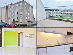 Dit appartement is gelegen op de 3de verdieping en omvat een inkom, ruime lichtrijke leefruimte met volledig ingerichte open keuken, 2 ruime slaapkame