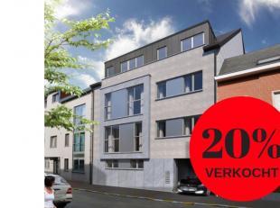 Nieuwbouwproject met slecht 5 appartementen. Dit zeer ruim appartement van 120 m² met zonneterras van 22.66 m² op verdiep 2. Met 2 zeer grot