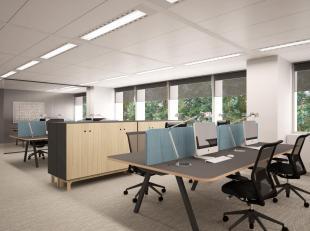 RECHTSTREEKS VAN EIGENAAR - Lichtrijke kantoren (617 m²) op de eerste verdieping van een goed gelegen kantoorgebouw in het centrum van Brussel. H