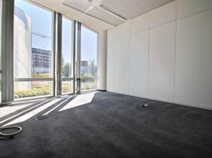 RECHTSTREEKS VAN EIGENAAR - In een standingvol kantoorgebouw (2004) : +/- 300 m² van scheidingswanden voorziene kantoorruimte op het gelijkvloers