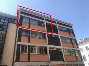 Indeling: woonkamer met slaaphoek (+/- 23 m²), volledig geïnstalleerde kitchenette, badkamer voorzien van ligbad, lavabo en toilet.  Interes