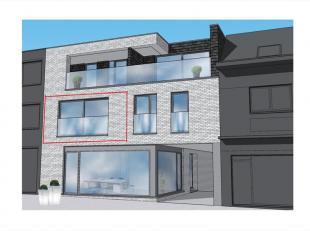 Dit appartement op het 1e verdiep links is als volgt ingedeeld : inkomhal / nachthal, toilet, leefruimte met zit-/ en eethoek, open keuken voorzien va