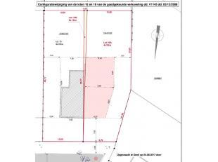 Bouwgrond voor halfopen bebouwing van 4a 93ca, zeer goed gelegen in een doodlopende straat op 2,5km van het centrum van Genk, 2,5km van de Hasseltweg,
