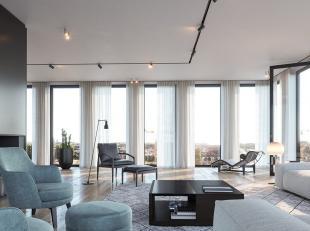 Deze prachtige penthouse beschikt over een ruime living welke aan alle zijden open zichten heeft. U leeft echt boven Gent.. Naast de living heeft u de