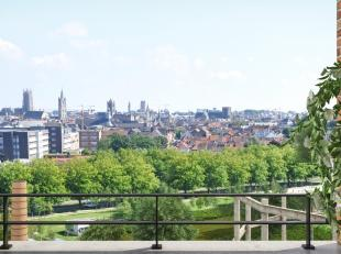 """Dit prachtig appartement beschikt over een ruime living met een uniek zicht over de torens van Gent ( an appartement with a vieuw"""" . U leeft echt bove"""