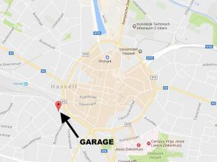 Ruime, afsluitbare garage gelegen in de kelderverdieping (niveau -1) aan het Woutersplein, gelegen op slechts 100 m wandelafstand van de kleine ring,