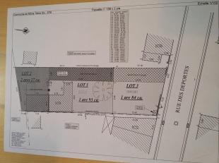 Terrain à bâtir sur 1 a 84 ca, façade 12,65 mPour renseignements : 0497/720.702