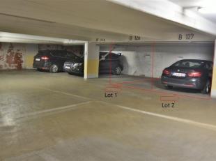 """la personne de contact pour ce bien est James Boudin au 0478/68.63.55 Emplacement de parking situé dans les parkings souterrain Q-park : """" Loui"""