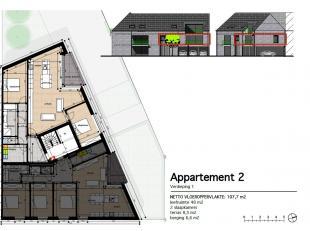 Appartement 2: Dit ruime en lichte 2 slaapkamer appartement bevindt zich op de eerste verdieping en heeft een oppervlakte van 121 m² met een terr