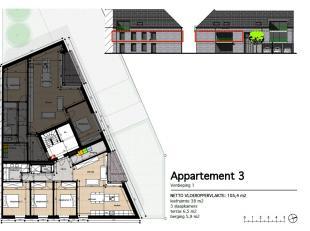 Appartement 3: Dit ruime en lichte 3 slaapkamer appartement bevindt zich op de eerste verdieping en heeft een oppervlakte van 122 m² met een terr