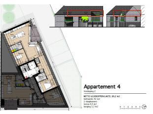 Appartement 4: Dit ruime en lichte 2 slaapkamer appartement bevindt zich op de tweede verdieping en heeft een oppervlakte van 97 m² met een terra