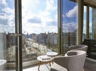 Deze prachtige penthouse bevindt zich in nieuwbouwproject Roosevelt Square, gelegen op het gelijknamige Rooseveltplaats in centrum Antwerpen. Dankzij