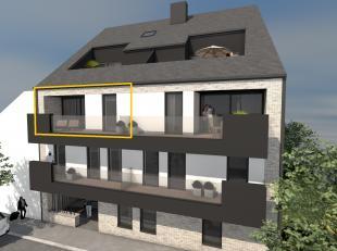 INDELING APPARTEMENT TWEEDE VERDIEPING LINKS:<br /> - VERDIEPING 2: Inkomhal, toilet,  woonkamer (6,40 x 4,55 m), keuken (3,28 x 2,62 m), schuifraam d