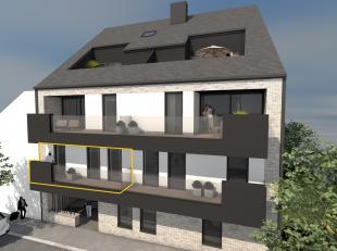INDELING APPARTEMENT EERSTE VERDIEPING LINKS :<br /> - VERDIEPING 1: Inkomhal, woonkamer (8,30 x 4,57/2,13 m) met open keuken en schuifraam dat uitgee