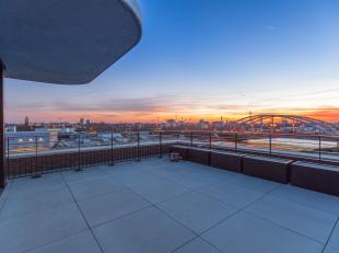 Penthouse op de vijfde verdieping met een fantastisch zicht.<br /> Het nieuwbouwproject oHase is gelegen aan de Canadastraat en Handelskaai, naast het