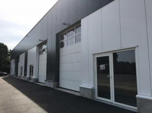 Industriehal van 200m² gelegen op het industrieterrein Oude Bunders in Maasmechelen. Zeer goede bereikbaarheid van de snelweg E314 (Brussel-Heerl