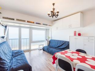 Instapklare gemeubelde studio met fantastisch zicht op zee bestaande uit: inkom, badkamer met lavabo- douche en wc, leefruimte met open keuken. Kelder
