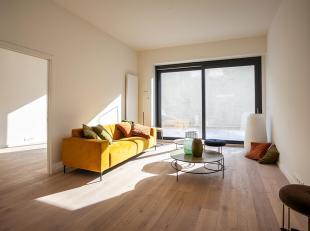 2 slaapkamer appartement met tuin ca 50m2.<br /> In een volledig gerenoveerd gebouw vinden we dit appartement terug op de gelijkvloerse verdieping, me