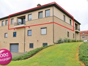 Mooi gelegen appartement met twee slaapkamers, kelder en garage, ruim en rustig gelegen terras met mooi uitzicht, ruime living met open keuken. GEEN M