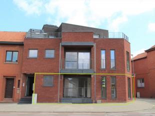Op het gelijkvloers bevindt zich de gemeenschappelijk inkomdeur in glas met toegang naar de appartementen, de traphal en de lift. In de technische rui