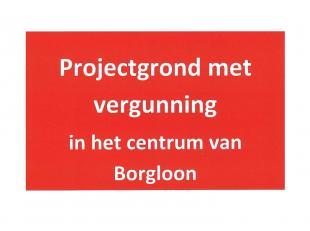 Projectgrond met vergunning gelegen in het centrum van Borgloon voor het bouwen van 5 appartementen met autostaanplaats.