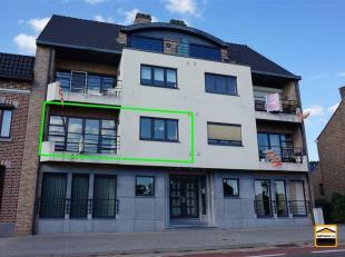 ZEER MOOI EN GOED GELEGEN APPARTEMENT UITGEVOERD IN MOOIE ARCHITECTUUR TE BORGLOON<br /> Het appartement bestaat uit inkomhal, wc, leefruimte, keuken,