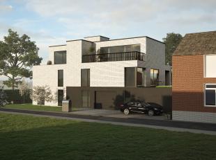 hall/vestiaire, leefruimte met keuken, berging, aparte wc, wasplaats, badkamer, terrassen (32 m2) en kelder.  Autostaanplaats apart te koop ! Lift aan