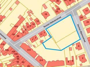 Hoek Romain Defeuterstraat en Herman Bijnensstraat : rustig in Woongebied gelegen projectgrond, gelegen op wandelafstand van het gemeenteplein, vlakbi