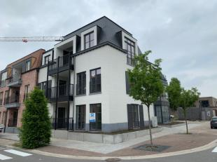 Nieuw appartement met 2 slaapkamers op het gelijkvloers.Indeling: inkomhal (met ingebouwde kasten), woonkamer met open keuken, terras, berging/wasplaa