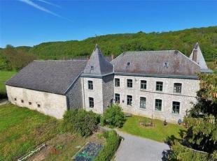 Le long de l'Ourthe, proche de Durbuy, élégant château-ferme remontant au début du 17ème siècle, sur une cont