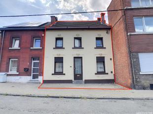 Mooi huis met een slaapkamer in een doodlopende straat in Seraing. Het huis is als volgt samengesteld: op de begane grond: een salon / eetkamer, een o