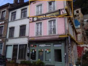 NAMUR<br /> Appartement une chambre situé au deuxième étage donnant vue sur la Meuse.<br /> Il se compose: d'une salle de douche,