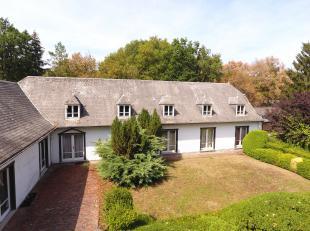 - OPTION - Villa d'exception à vendre sur les hauteurs de Barvaux, à quelques minutes de Durbuy.<br /> Cette villa construite avec des