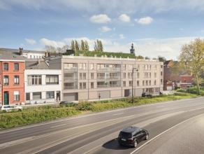 Mons boulevard Charles Quint, projet immobilier de standing BAIO intra muros. Résidence de 25 appartements, rez commerciaux et 35 parkings en s