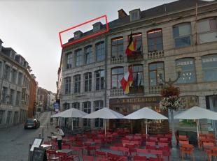 Grand Place 30 - Mons, Appartement situé au 2. étage avec vue sur la grand place de Mons et sur le Beffroi. Comprenant: hall, salon-sall