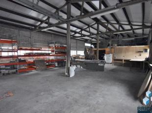 Loods van 200 m2 op goeie ligging bestaande uit:  twee nieuwe sectorale poorten, nieuwe zijdeur in de rechter zijgevel ,(volledig) vernieuwd dak, elek