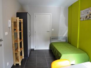 Verhuurde bemeubelde studentenkamer met eigen sanitair (douche, lavabo en toilet) en gemeenschappelijke keuken nabij hogescholen en station en centrum