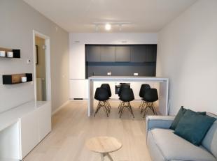 Studio te koop met ruim terras in de hippe Dansaertwijk aan het kanaal van Brussel. Het is aangenaam wonen in deze buurt, waar smaakvolle restaurantje