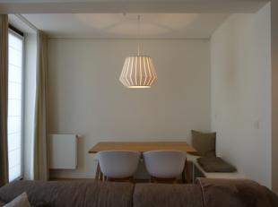 Dit lichtrijk gedeeltelijk bemeubeld nieuwbouwappartement met één slaapkamer heeft een ruime leefruimte met aangenaam terras.  <br /> <b