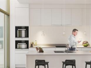 Prachtig nieuwbouwappartement gelegen in het project RIVA aan de oevers van het kanaal. Het appartement van 101m2 heeft 2 slaapkamers is gelegen op de