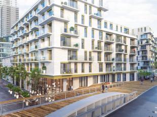 """Aan de overzijde van de iconische site van TOUR & TAXIS, biedt het PRACHTIGE nieuwbouwproject """"Riva"""" een UNIEKE woonervaring langs het KANAAL. <br"""