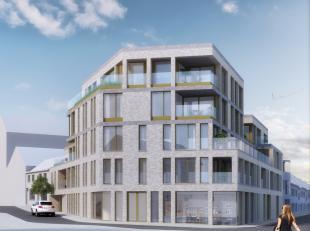 """Nieuwbouwappartement (63,81 m²) gelegen op het eerste verdiep in """"Residentie The Corner"""". Er is een terras (8,04 m²) aanwezig. Een autostaan"""