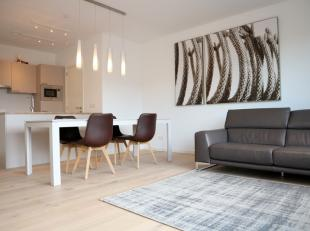 Bemeubeld 2 slaapkamer appartement gelegen in residentie GLORIA op de site van Tour & Taxis, aan het hippe kanaal, zeer goede bereikbaarheid met h
