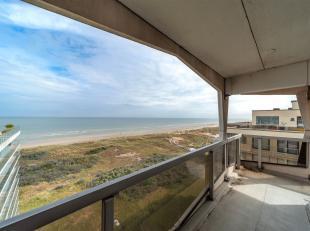 Grand appartement avec 3 chambres à coucher et des vues splendides à vendre à la Panne. Vue sur les la mer et les dunes. Terrasse