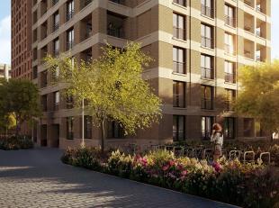 Dit mooi zuidgeoriënteerd appartement vindt u terug in de Park Lane residentie Central gelegen op de Tour&Taxis site te Brussel. Met een bewo