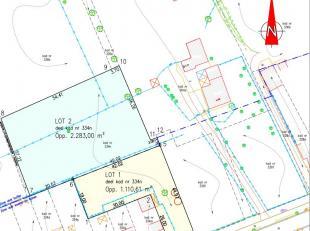 Ideaal gelegen lot bouwgrond centraal gelegen.<br /> Lot 1 : perceel van 1.110m²<br /> Prijs is exclusief de bijkomende kosten.<br /> Geen bou