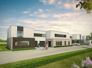 Deze gesloten bebouwing in een strakke hedendaagse architectuur wordt gerealiseerd op een perceel van 307m². De woning heeft eenopen ingedeeldele